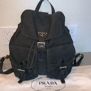 Authentic Prada velo nylon backpack shoulder tote